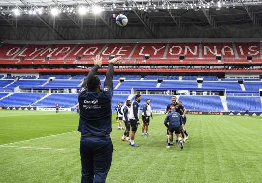 L'équipe de France de rugby «bis» s'entraîne à Lyon avant d'affronter la Nouvelle-Zélande.