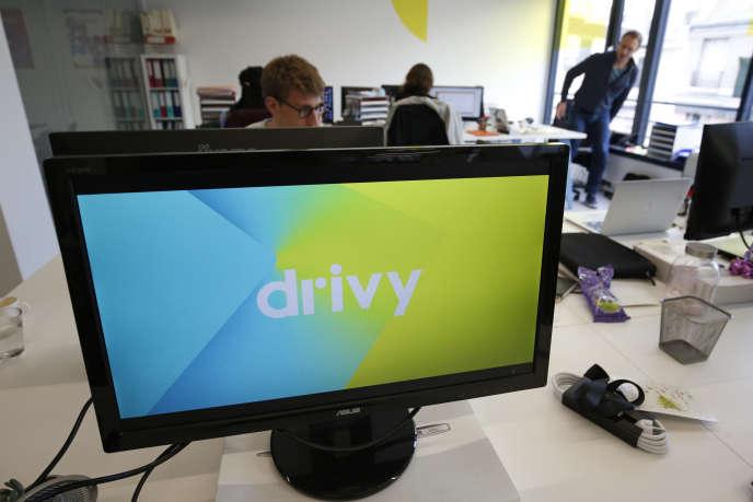 Le siège social de Drivy, à Paris, le 7 avril 2016.