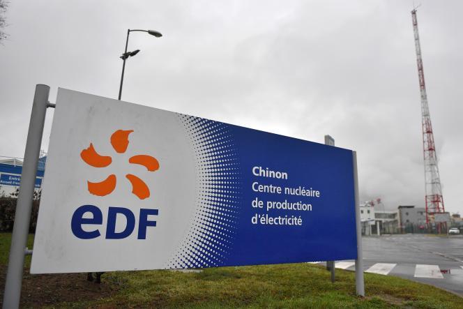 Site EDF de Chinon (Indre-et-Loire), 8 novembre.