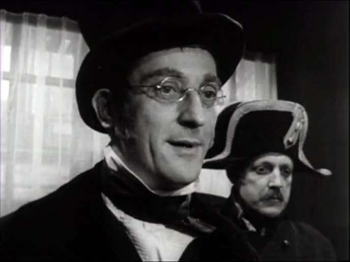 Alain Mottet dans l'un des épisodes de la série TV de Marcel Bluwal,« Vidocq».