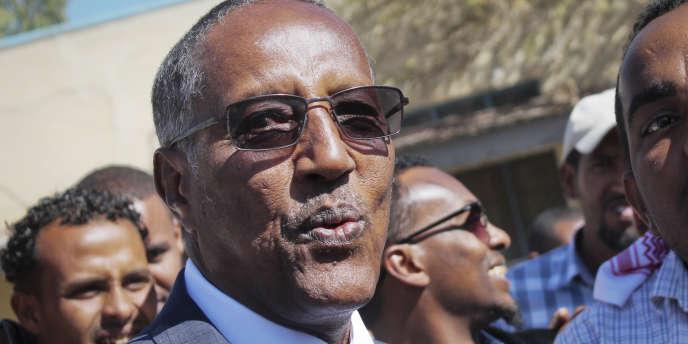 Musa Bihi Abdi après avoir voté à l'élection présidentielle au Somaliland, le 13novembre 2017, à Hargeisa.Le candidat du parti au pouvoir a été déclaré vainqueur.