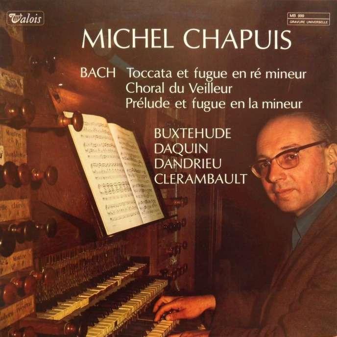 Pochette d'un des albums de Michel Chapuis consacrés à Bach, Buxtehude, Daquin, Dandrieu et Clerambault.