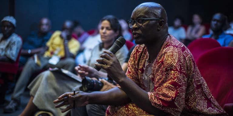 L'historien et philosophe camerounais Achille Mbembe durant la deuxième édition des Ateliers de la pensée, le 2novembre 2017,à Dakar.