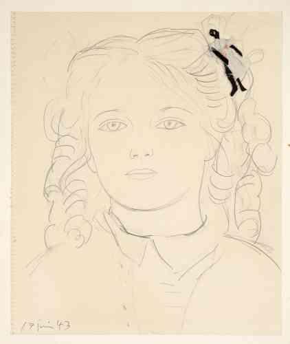 «Dans cet assemblage inédit, Picasso a accroché dans les cheveux de Maya une poupée qu'il a lui-même confectionnée. Ce portrait de Maya de facture classique d'une grande douceur apparaît comme une trêve dans un contexte historique tumultueux, alors que Paris est toujours sous l'occupation des nazis.»