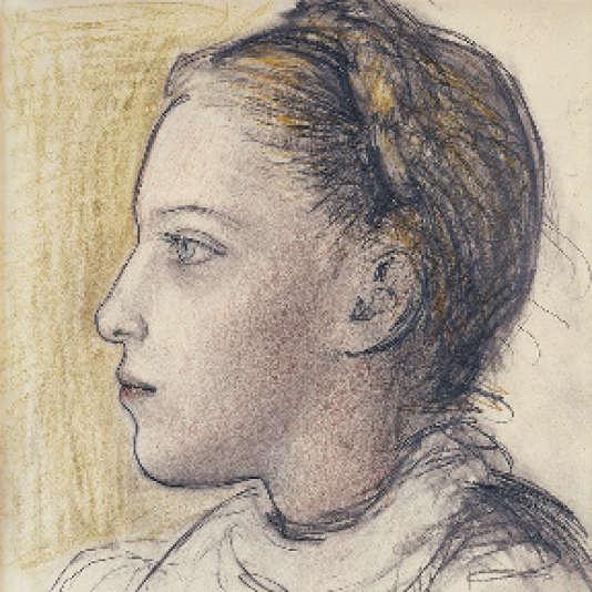 «Portrait de Maya de profil» (1943), de Pablo Picasso.
