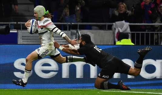 Gabriel Lacroix a inscrit deux essais face aux All Blacks mardi14 novembre.