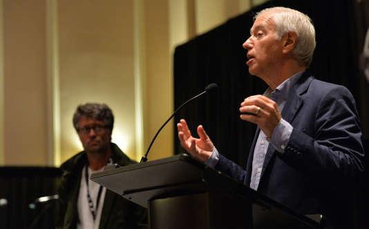 Cary Sherman,PDG de la Recording Industry Association of America (RIAA), l'association interprofessionnelle qui défend les intérêts de l'industrie du disque aux Etats-Unis, à Nashville (Etats-Unis), le 19 septembre 2013.