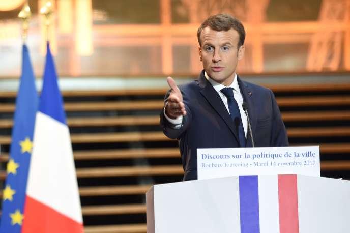 Le président de la République, Emmanuel Macron, le 14 novembre à Tourcoing.