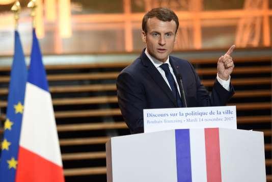 Emmanuel Macron, à Tourcoing (Nord), le 14 novembre.