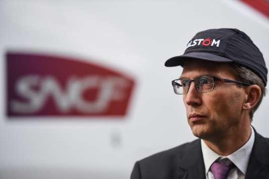Henri Poupart-Lafarge, le PDG d'Alstom, le 26 octobre à Belfort.