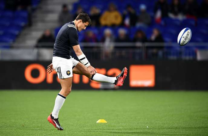 François Trinh-Duc, le 14 novembre contre l'équipe de Nouvelle-Zélande.