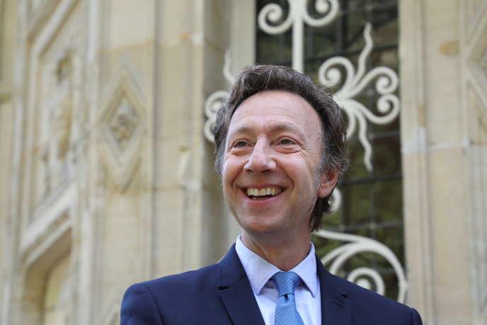L'animateur Stéphane Bern, le 16 septembre 2017 à Le Port-Marly (Yvelines).