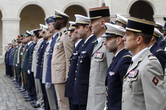 Baptême de promo àl'Ecole de guerre, le centre de formation des cadres supérieurs de l'armée française.