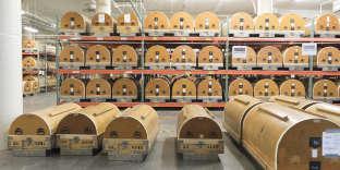 Conservation des films dans l'usine Eastman Kodak de Rochester, en octobre 2017.