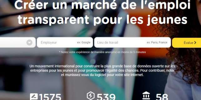 Page d'accueil du site Transparencyatwork.org.