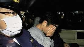 Takahiro Shiraishi, 27 ans, est soupçonné d'avoir tué et démembré neuf « candidats au suicide » contactés sur les réseaux sociaux. Ici lors de son arrestation, le 31 octobre.