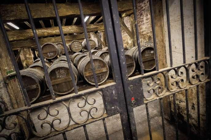 La maison charentaise Delamain conserve ses précieux millésimes dans des chais fermés à clé ou scellés.