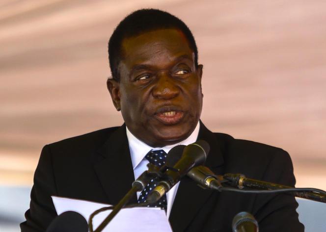 Emmerson Mnangagwa, le 7 janvier 2017.
