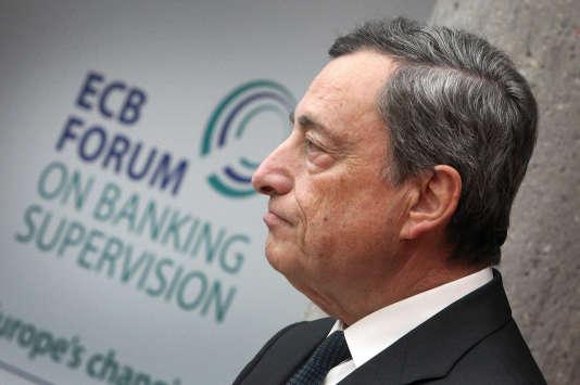Mario Draghi, président de la Banque centrale européenne, le 7 novembre à Francfort.