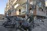 Après le tremblement de terre qui a touché le nord-ouest de l'Iran, àSar-e Pol-e Zahab, le 15 novembre.