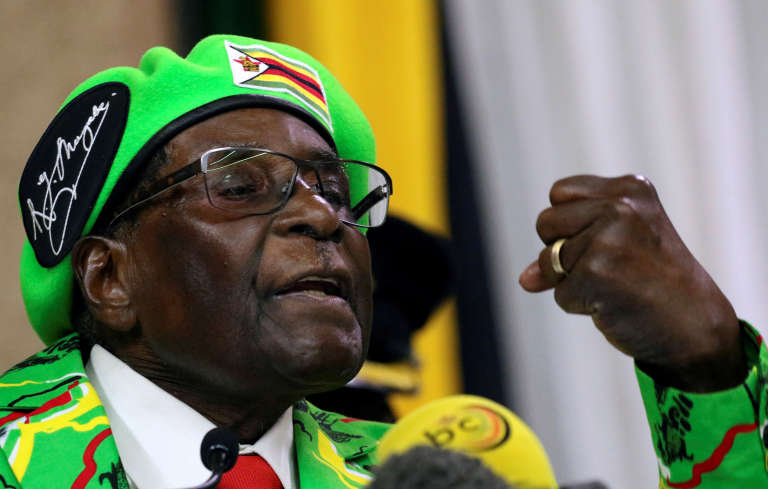 Le président zimbabwéen Robert Mugabe le 7 octobre 2017 à Harare.