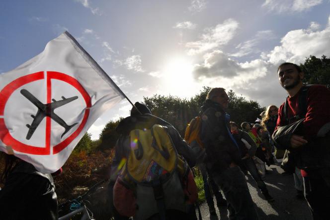 Manifestation d'opposants au projet d'aéroport Notre-Dame-des-Landes le 21 octobre.
