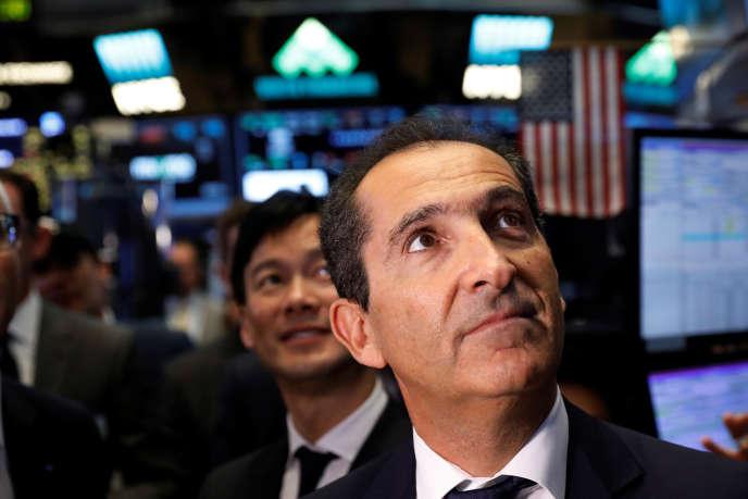 Patrick Drahi, lors de l'introduction en Bourse d'Altice USA, en juin, à New York.