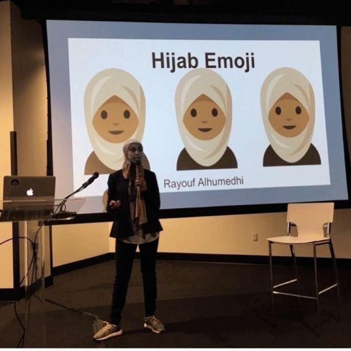 Pour Rayouf Alhumedhi, les « 550 millions de musulmanes qui portent fièrement le hidjab »dans le monde n'avaient, jusque-là,«pas un seul espace réservé sur les claviers».