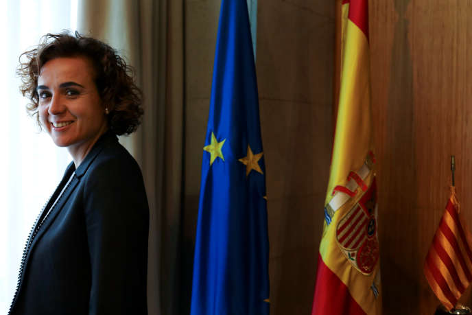 Dolors Montserrat, à Madrid, le 15 novembre.La ministre de la santé espagnole a estimé que l'échec de Barcelone est un « des préjudices directs causés par le processus indépendantiste» catalan.