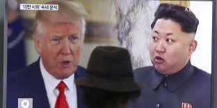 Les présidents américain et nord-coréen, Donald Trump et Kim Jong-un.