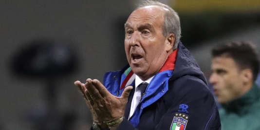 Gian Piero Ventura, le sélectionneur de l'équipe d'Italie a perdu son poste mercredi 15 novembre 2017.