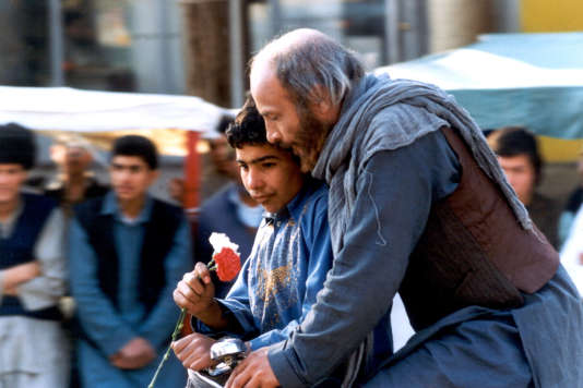 « Le Cycliste» («Bicycleran»), film iranien deMoshen Makhmalbaf (1987).