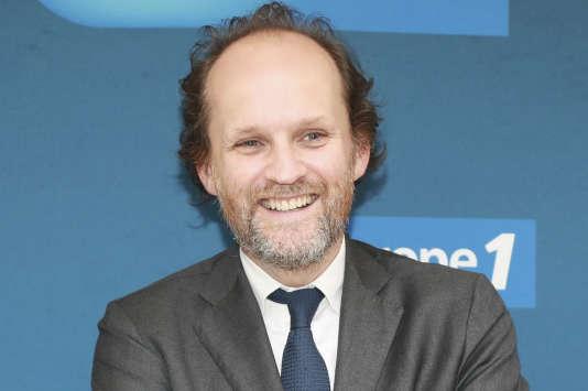 Le producteur et propriétaire de salles de spectacles Jean-Marc Dumontet lors d'une conférence de presse à Europe 1, le 12 septembre 2017.