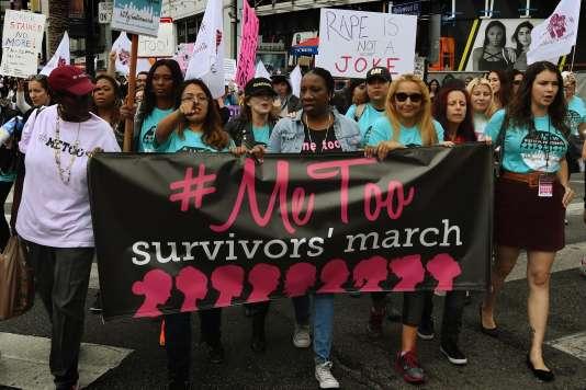 Une « Marche des survivantes» sur Hollywood Boulevard, à Los Angeles, le 12 novembre.
