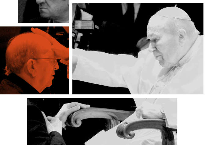 Le père Maciel et Jean Paul II, au Vatican, le 30 novembre 2004.