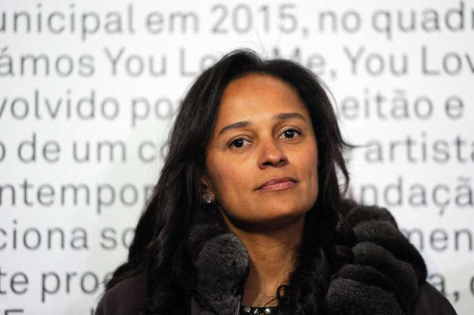 La milliardaire Isabel dos Santos, fille de l'ancien président angolais José Eduardo dos Santos, à Porto, en mai 2014.