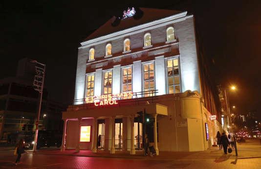L'Old Vic Theatre à Londres, dont l'acteur américain Kevin Spacey a été le directeur entre 2004 et 2015, le 15 novembre 2017.
