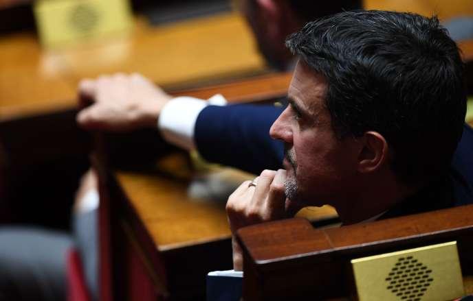 Manuel Valls, à l'Assemblée nationale, le 24 octobre.