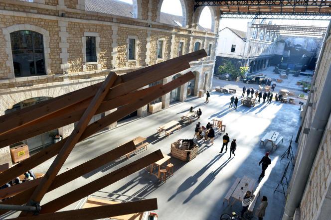 Darwin Ecosystème, un pôle d'activité économique créative qui mêle le business, la culture, l'écologie dans le cadre d'un site patrimonial : la caserne Niel, rive droite de Bordeaux (ici, en novembre 2015).