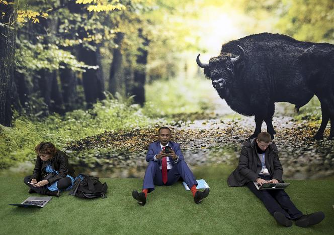 Lors de la conférence pour le climat des Nations unies (COP23) à Bonn, en Allemagne, le 16 novembre.