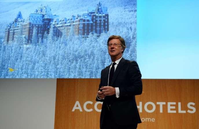 Le PDG d'AccorHotels, Sébastien Bazin, le 22 février, à Paris.