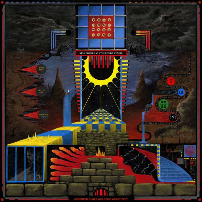Pochette de l'album « Polygondwanaland », du groupe de rock psychédélique King Gizzard and The Lizard Wizard.