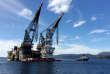 Une plate-forme pétrolière, prèsdeStord, en Norvège, le 4 septembre 2017.