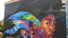 Graffiti dans le centre historique de Bogota, la Candelaria.