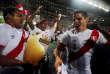 Les joueurs péruviens ont bénéficié d'une belle ration de houblon après avoir éliminé la Nouvelle-Zélande en barrage.