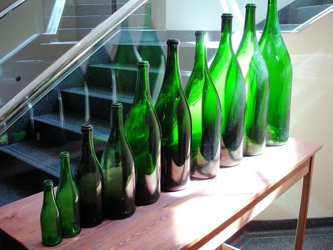 Les bouteilles de vin vont de 20 centilitres à 30 litres.