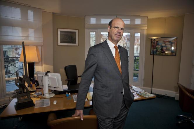 Eric Lombard, ancien patron de la filiale française de l'assureur Generali, à Paris en 2015.