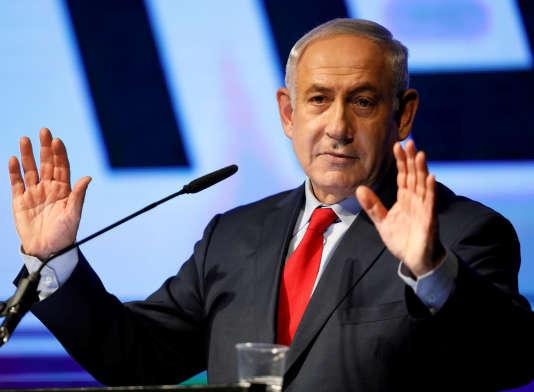 Le premier ministre d'Israël, Benyamin Nétanyahou, à Tel-Aviv, le 9 août 2017.