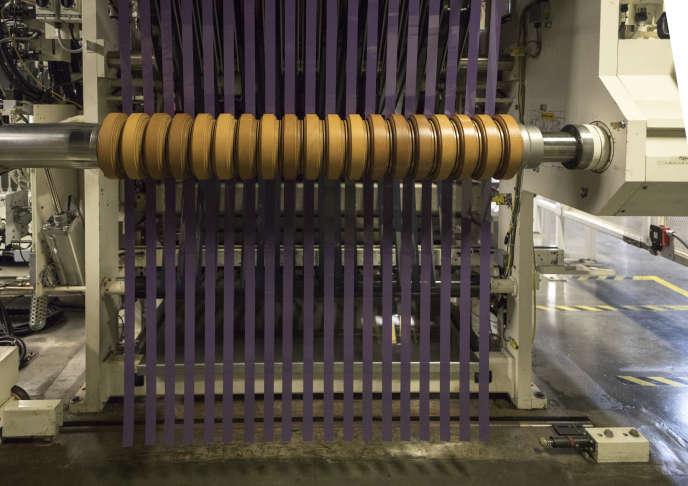 Machine à découper les pellicules dans l'usine Eastman Kodak, à Rochester (Etat de New York), en octobre 2017.