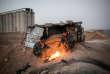 Deux soldats kurdes des Forces démocratiques syriennes postés à un point de contrôle entre Kamechliyé et Kobané, à la frontière turco-syrienne, le 15 novembre.